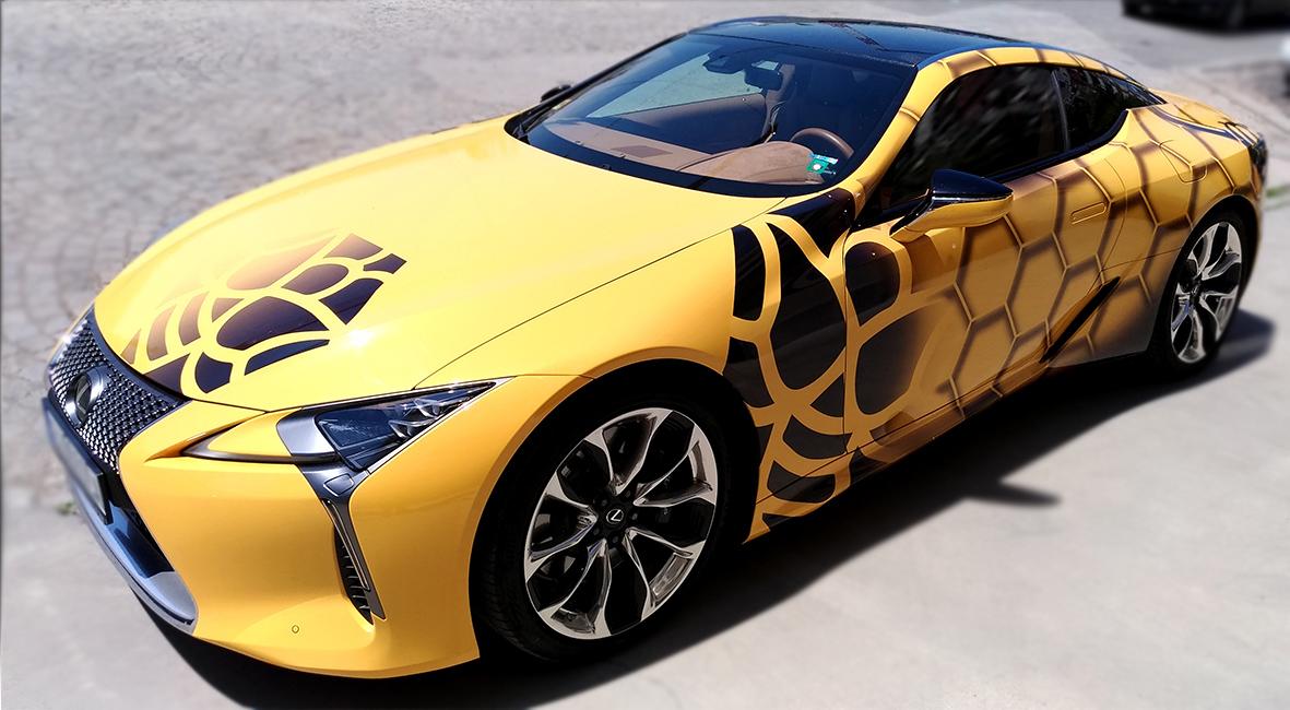 цялостно брандиране на автомобил - Lexus LC500