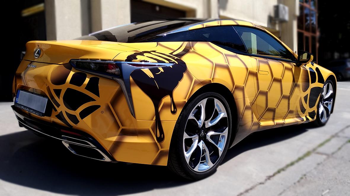 брандиране на автомобил чрез винилография - Lexus LC500